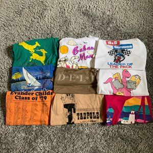 Other - Lot 9 Vintage Single Stitch Graphic Tees Shirts